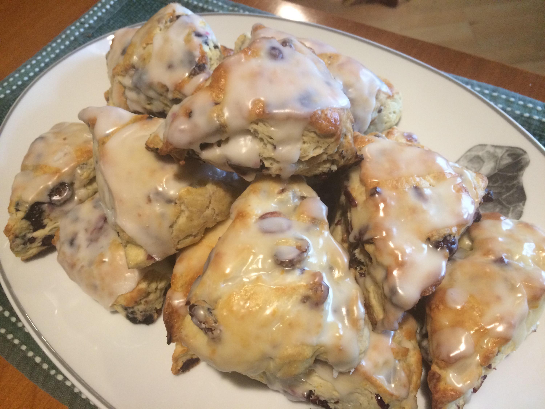 cranberru irange blueberry lemon scones