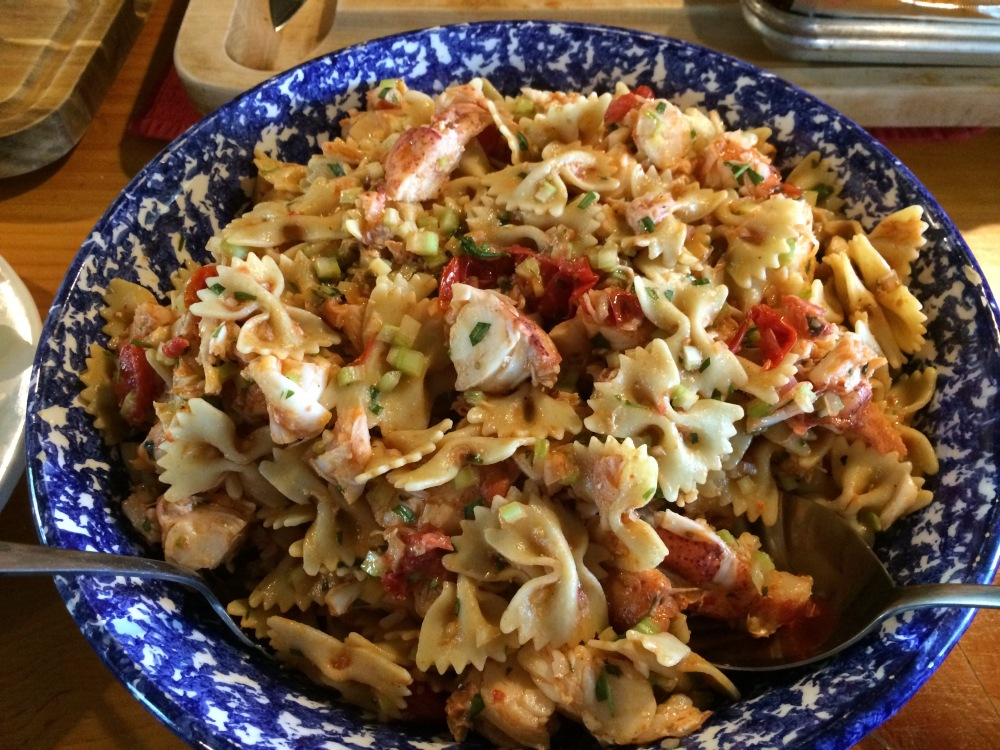 lemon tarragon lobster pasta